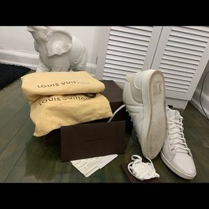 Louis Vuitton White and Grey Men Sneakers